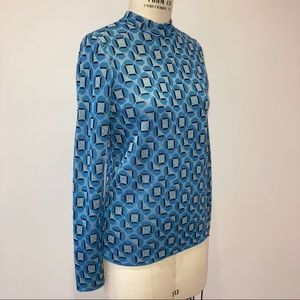 NWOT KATE SPADE Knit Jacquard Geo Print Sweater